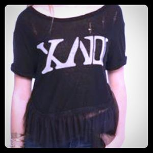 We The Free XVII Pretty Punk Tulle Tee